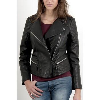 Vêtements Femme Vestes en cuir / synthétiques Giorgio Sherry Noir Noir