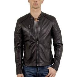 Vêtements Homme Vestes en cuir / synthétiques Giorgio John WODY Noir Noir
