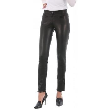 Vêtements Femme Pantalons 5 poches Giorgio Unes Noir Noir