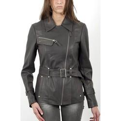 Vêtements Femme Vestes en cuir / synthétiques Giorgio Karen Gris Gris