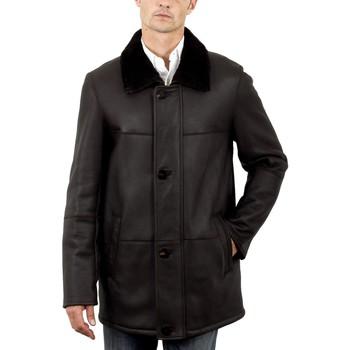 Vêtements Homme Vestes en cuir / synthétiques Intuitions Paris AMH 285 Marron Marron