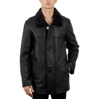 Vêtements Homme Vestes en cuir / synthétiques Intuitions Paris AMH 285 Noir Noir