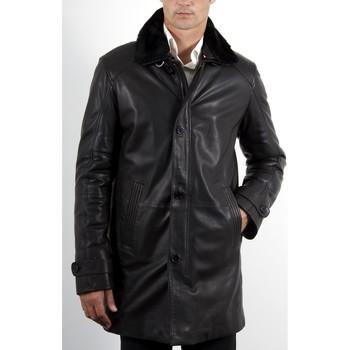 Vêtements Homme Vestes en cuir / synthétiques Giorgio Vlad Noir Noir
