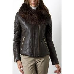 Vêtements Femme Vestes en cuir / synthétiques Giorgio Ilyana Marron Marron