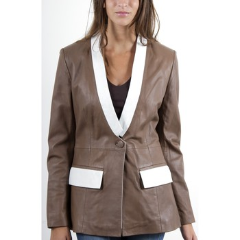 Vêtements Femme Vestes en cuir / synthétiques Mac Douglas Jena Taupe Taupe