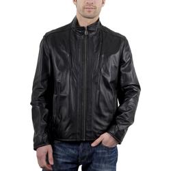 Vêtements Homme Vestes en cuir / synthétiques Giorgio Roberto Noir Noir