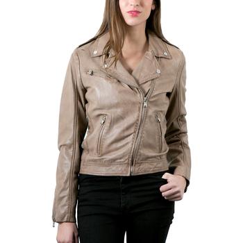 Vêtements Femme Vestes en cuir / synthétiques Redskins Lucky Taupe Taupe