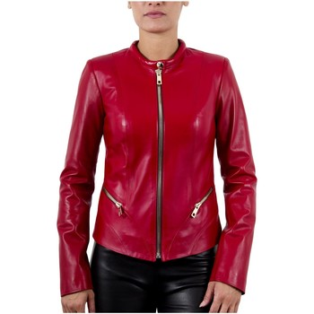 Vêtements Femme Vestes en cuir / synthétiques Giorgio Ansia Waxy Rouge (Zip Or) Rouge