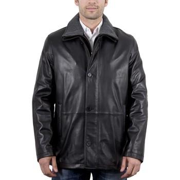 Vêtements Homme Vestes en cuir / synthétiques Intuitions Paris AH 09-19 Noir Noir
