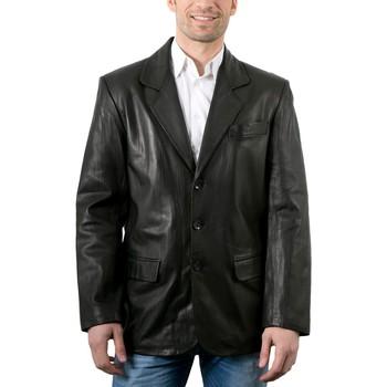 Vêtements Homme Vestes en cuir / synthétiques Giorgio Mano Noir Noir