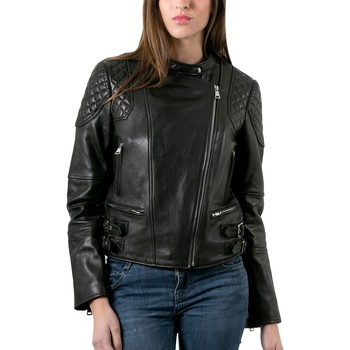 Vêtements Femme Vestes en cuir / synthétiques Intuitions Paris AF 70-1536 Noir Noir