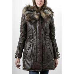 Vêtements Femme Vestes en cuir / synthétiques Giorgio Kama Marron Marron