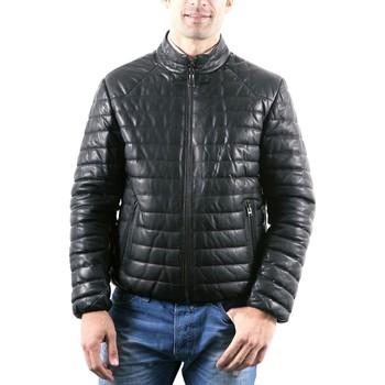 Vêtements Homme Vestes en cuir / synthétiques Giorgio Salvador Noir Noir