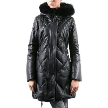 Vêtements Femme Vestes en cuir / synthétiques Giorgio Rejana Noir Noir