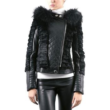 Vêtements Femme Vestes en cuir / synthétiques Giorgio Asia Noir Noir