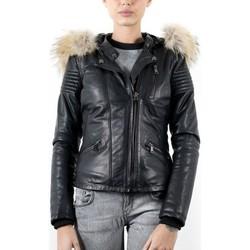 Vêtements Femme Vestes en cuir / synthétiques Giorgio Blake Noir Noir