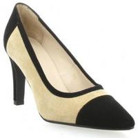 Chaussures Femme Escarpins Vidi Studio Escarpins cuir velours   et Noir/taupe