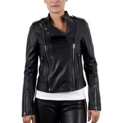 Vêtements Femme Vestes en cuir / synthétiques Giorgio Elsa Agora Noir Noir