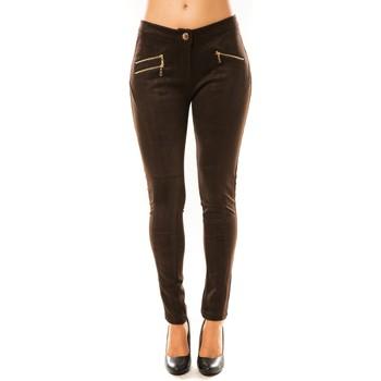 Vêtements Femme Pantalons fluides / Sarouels Tcqb Pantalon P604 Marron Marron