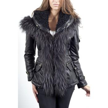 Vêtements Femme Vestes en cuir / synthétiques Giorgio Ania Noir Noir
