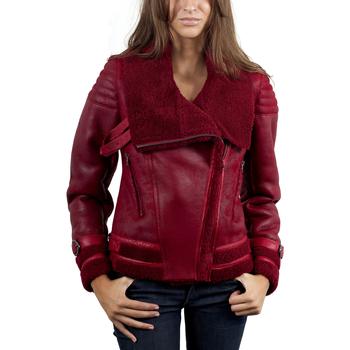 Vêtements Femme Vestes en cuir / synthétiques Giorgio Tina Rouge Rouge