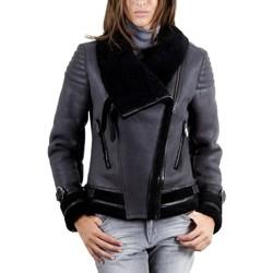 Vêtements Vestes en cuir / synthétiques Giorgio Tina Gris / Noir Gris et Noir