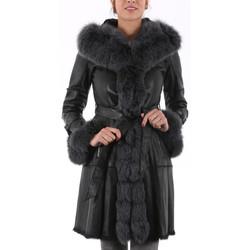 Vêtements Femme Vestes en cuir / synthétiques Milpau AL 80-88 Noir Noir