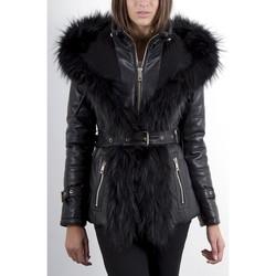 Vêtements Femme Vestes en cuir / synthétiques Giorgio Anae Noir Noir