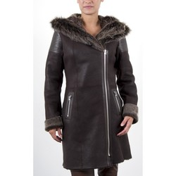 Vêtements Femme Vestes en cuir / synthétiques Giorgio Rouxandra Marron Marron