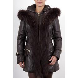 Vêtements Femme Vestes en cuir / synthétiques Giorgio Juna Marron Marron