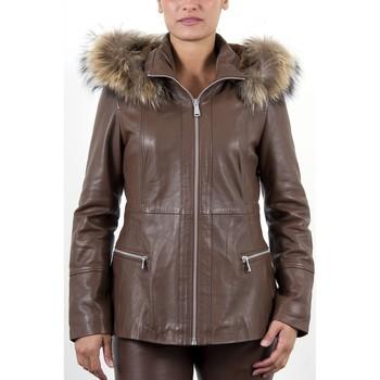 Vêtements Femme Vestes en cuir / synthétiques Giorgio Tropezienne Marron Marron