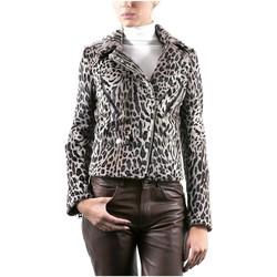 Vêtements Femme Vestes en cuir / synthétiques Giorgio Perfect Leopard Gris Gris