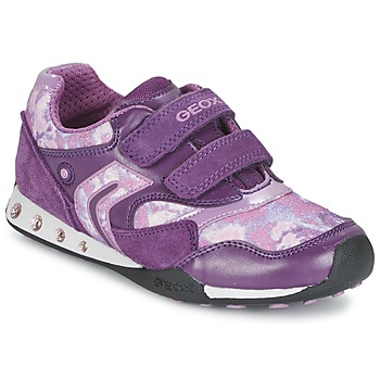 Chaussures Fille Baskets basses Geox NEW JOCKER Prune
