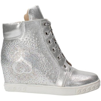 Baskets basses Solo Soprani 1403 Sneakers Femme Cuir Synthetique  Argent