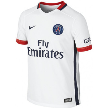 Vêtements Garçon T-shirts manches courtes Nike Maillot de football  Junior PSG Stadium Away 2015/2016 - Ref. 65 Blanc