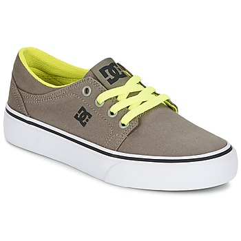 Chaussures Garçon Baskets basses DC Shoes TRASE TX Taupe