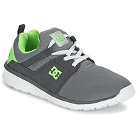 Chaussures Garçon Baskets basses DC Shoes HEATHROW Gris / Blanc / Vert