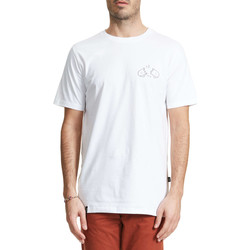 T-shirts manches courtes Wasted Tee Shirt  Broke Blanc Homme