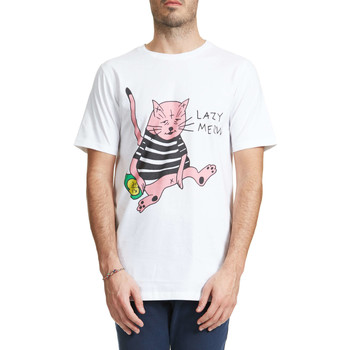 T-shirts manches courtes Wasted Tee Shirt  Lazy Cat Blanc Homme