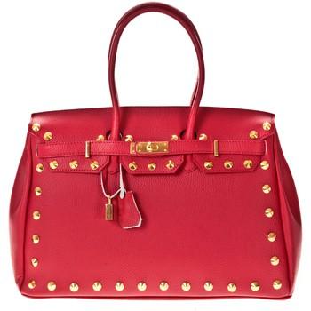 Sacs Femme Cabas / Sacs shopping Soleil Bleu Sac DS Création clous dorés Rouge