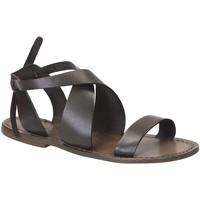 Chaussures Femme Sandales et Nu-pieds Gianluca - L'artigiano Del Cuoio 570 D FANGO CUOIO Fango