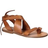 Chaussures Femme Sandales et Nu-pieds Gianluca - L'artigiano Del Cuoio 571 D CUOIO CUOIO Cuoio