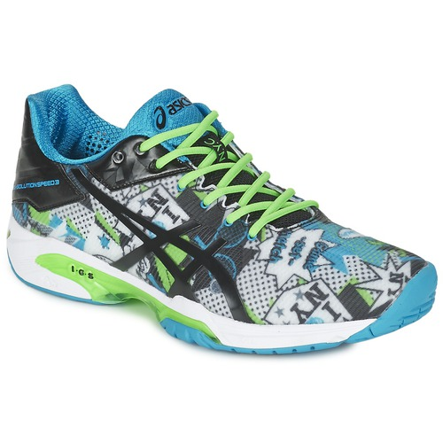 Chaussures Homme Tennis Asics GEL-SOLUTION SPEED 3 L.E. NYC Blanc / Noir / bleu