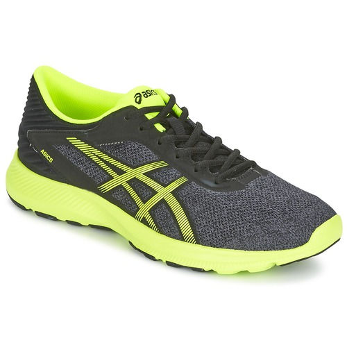 Chaussures-de-running Asics NITROFUZE Gris / Jaune 350x350