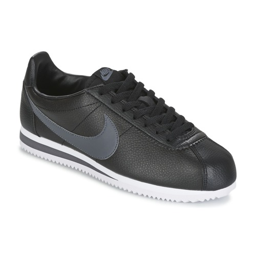 64715cd74f0 Chaussures Homme Baskets basses Nike CLASSIC CORTEZ LEATHER Noir   Gris