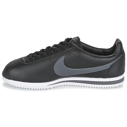 Homme Basses Classic Cortez NoirGris Chaussures Nike Baskets Leather m8Nn0w