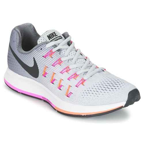 Chaussures Femme Running / trail Nike AIR ZOOM PEGASUS 33 W Gris / Rose