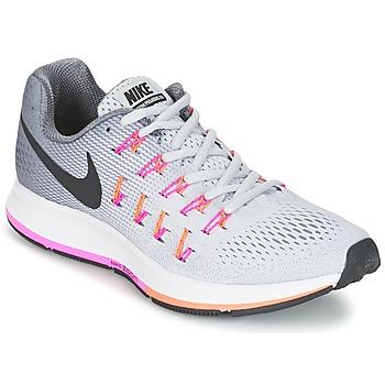 Chaussures-de-running Nike AIR ZOOM PEGASUS 33 W Gris / Rose 350x350