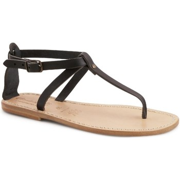 Chaussures Femme Sandales et Nu-pieds Gianluca - L'artigiano Del Cuoio 582 D NERO LGT-CUOIO nero