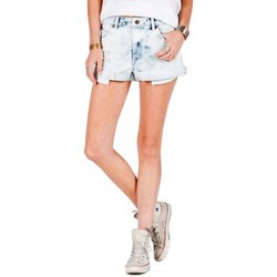 Vêtements Femme Shorts / Bermudas Volcom Short  1991 Short Rolled - Cosmic Blue Bleu